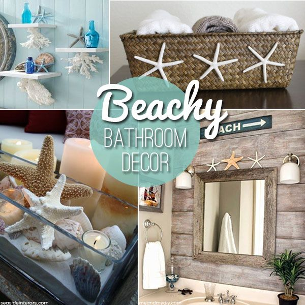 beach themed decor ideas & inspirations for a summer bathroom