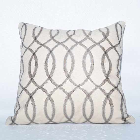Silver Sequin Handmade Decorative Designer Toss Accent Pillow