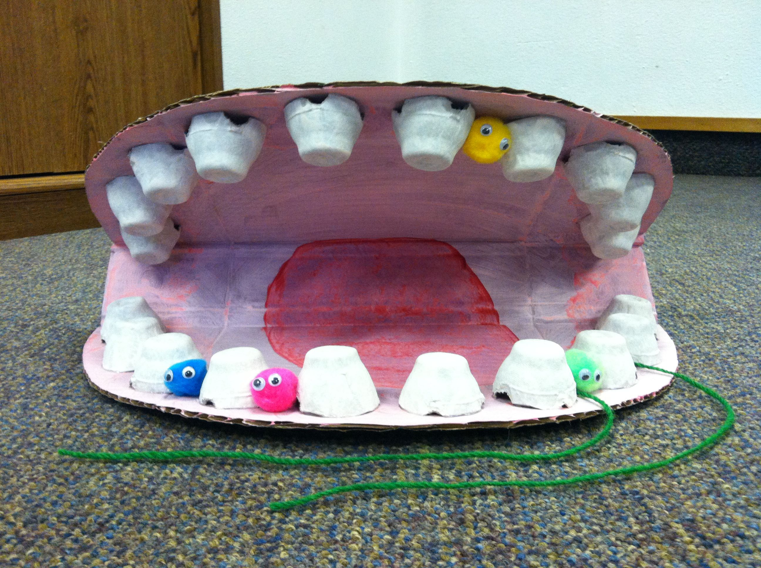 February Is Dental Health Month Large Cardboard Mouth