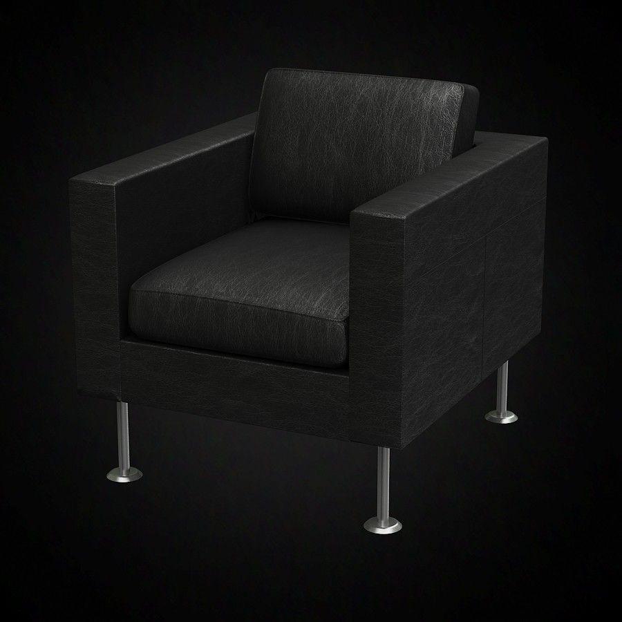 Accent Chair In Sketch Up: Jasper Morrison Park Armchair- 3D Furniture Model