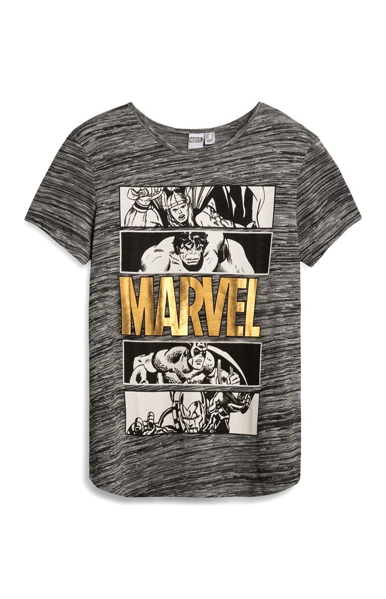 ef8096595 Primark - Grijs T-shirt met Marvel Avengers-print - Visit to grab an  amazing super hero shirt now on sale!