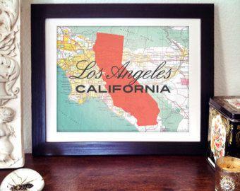 LA Print - California Print - Los Angeles Print - Los Angeles California Print - California State Print - State Print