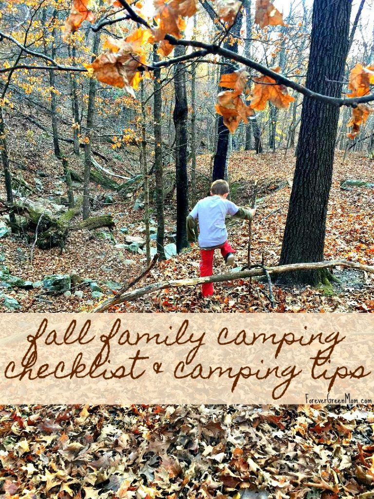 Photo of Fall Family Camping Checklist & Camping Tips | Forever Green Mom