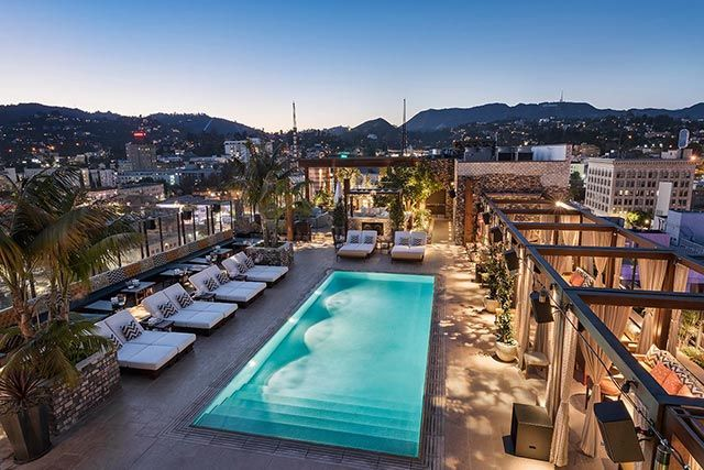 The pool at the dream hotel hollywood where to find the - Best hotel swimming pools in california ...