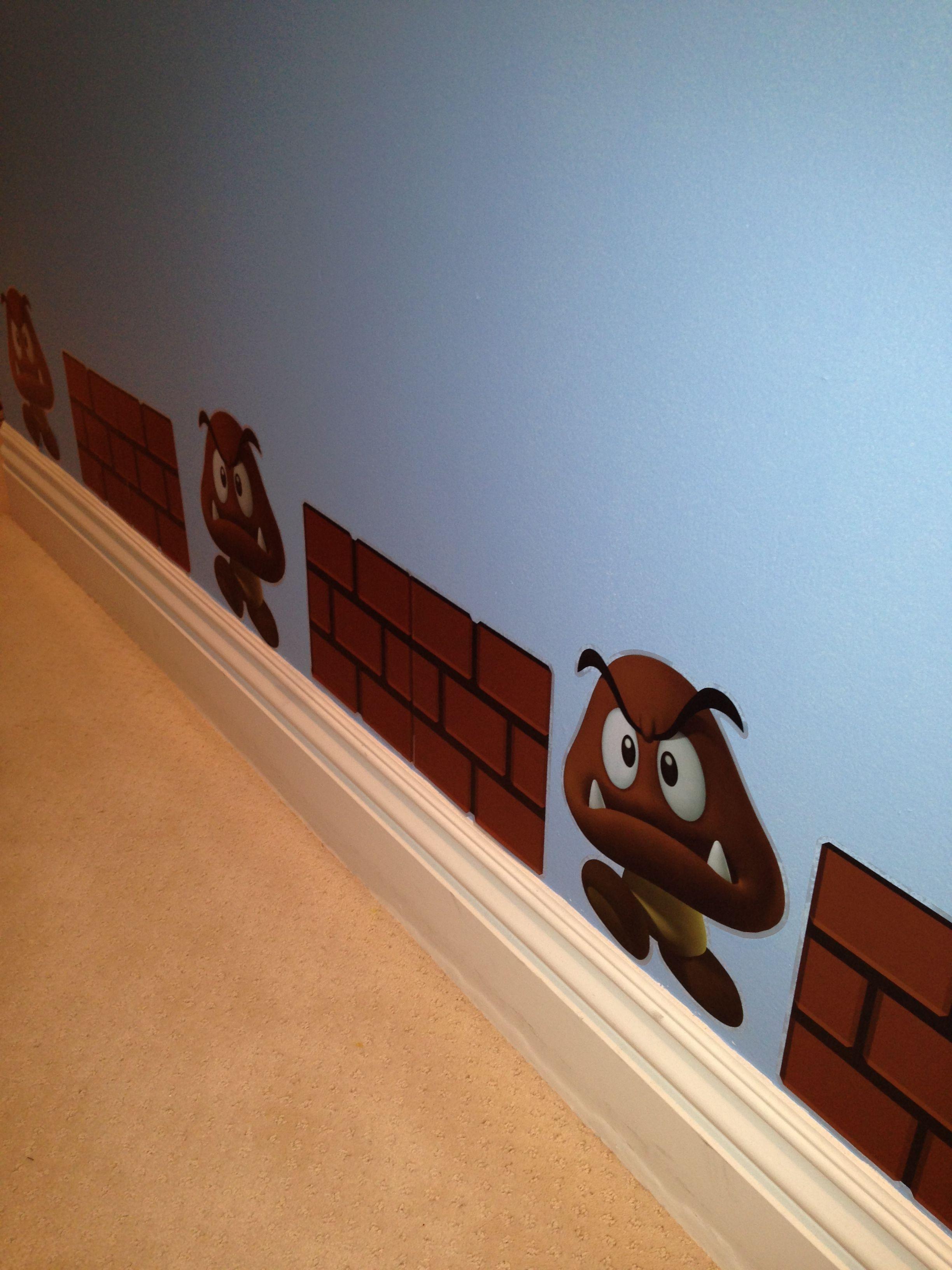 Mario Bros room decor molding Mario bros room Pinterest Room