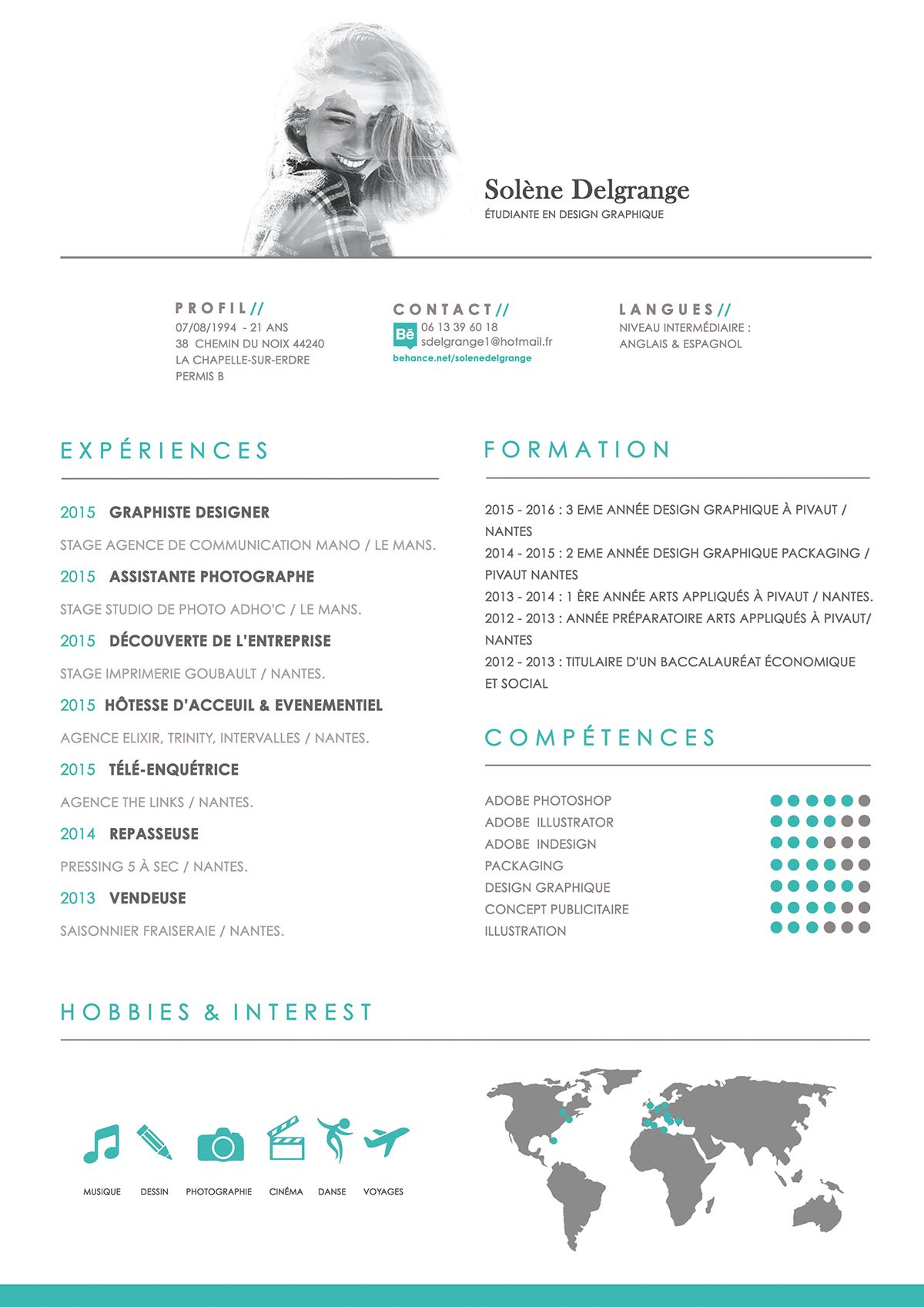 Showcase And Discover Creative Work On The World S Leading Online Platform For Creative Industries Cv Design Resume Resume Template