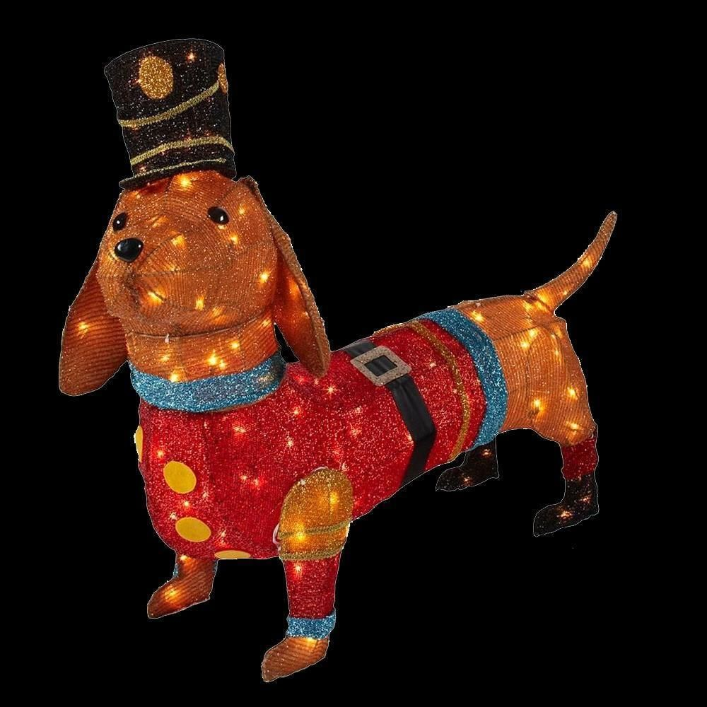 Christmas Lighted Toy Soldier Dachshund Indoor Outdoor Yard Lawn Figure Decor Unbranded Dachshund Christmas Yard Decorations Dog Decor