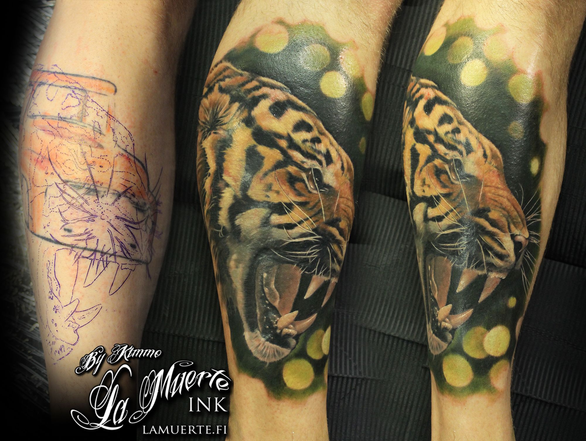 a18175bc47896 Tiger cover-up tattoo by Kimmo Angervaniva @ La Muerte Ink | Tattoos ...