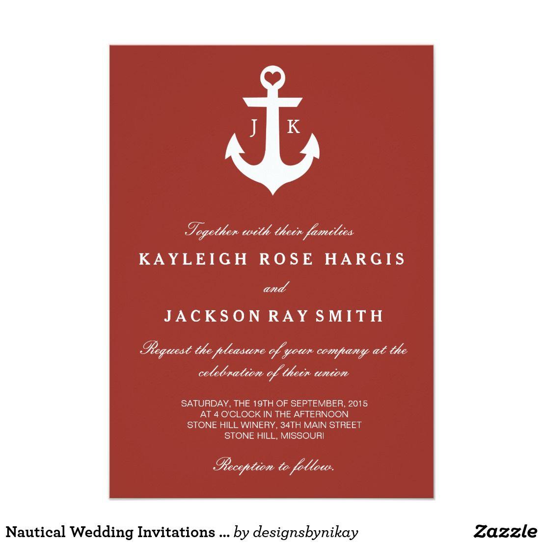 Nautical Wedding Invitations | Wedding | Pinterest | Nautical ...