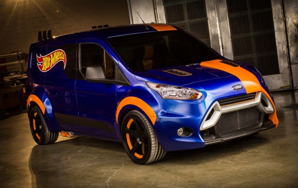 Ford Transit Connect Van Gets Hot Wheels Transformation Ford