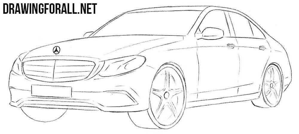 How To Draw A Mercedes Benz E Class Benz E Class Benz E Mazda