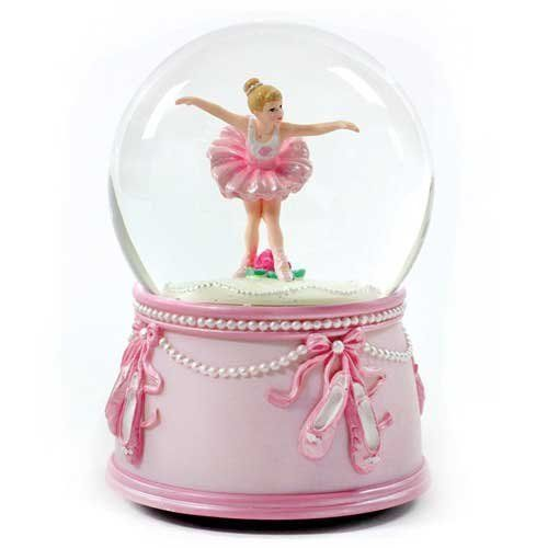 Ballerina Dancer And Bows Water Globe By Sfmb Dream Dancer