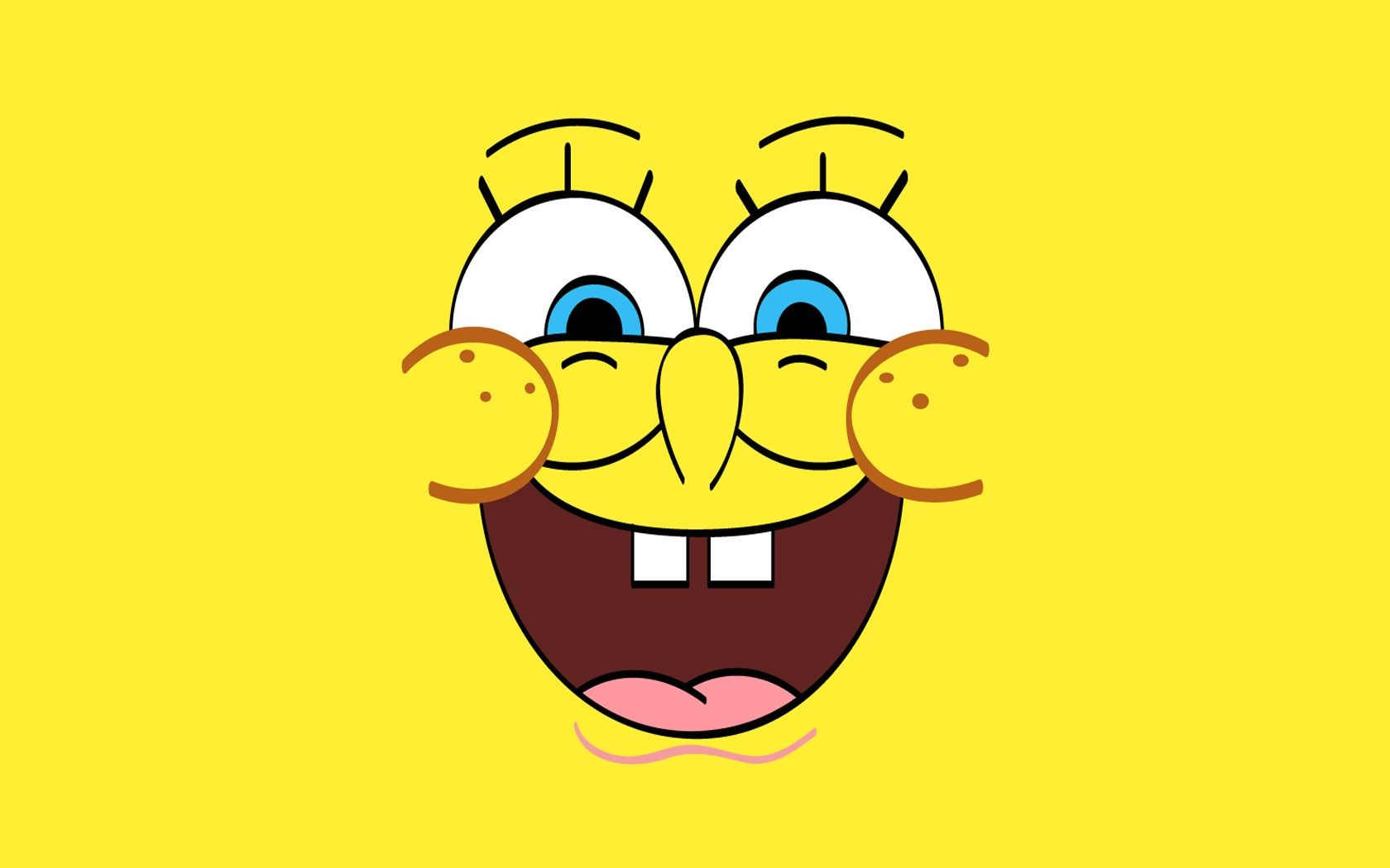 Spongebob Happy Face HD Wallpaper (Dengan gambar