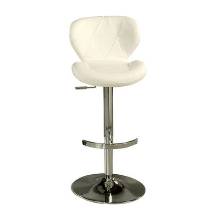 Found it at Wayfair - Aegean Barstool in Chrome & Ivory