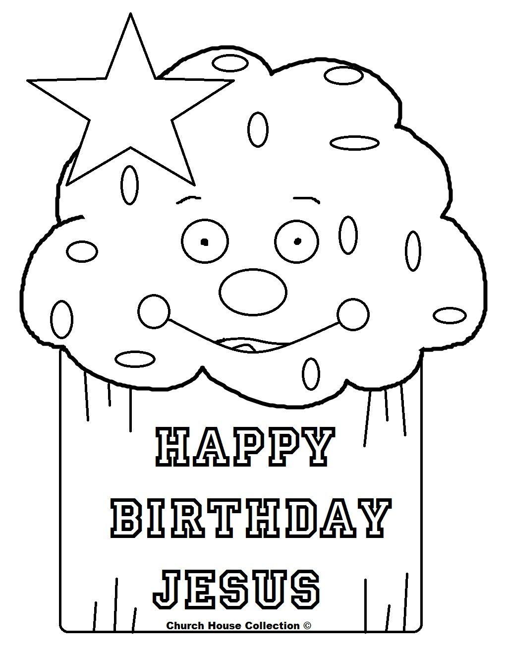 happy birthday jesus coloring page # 11