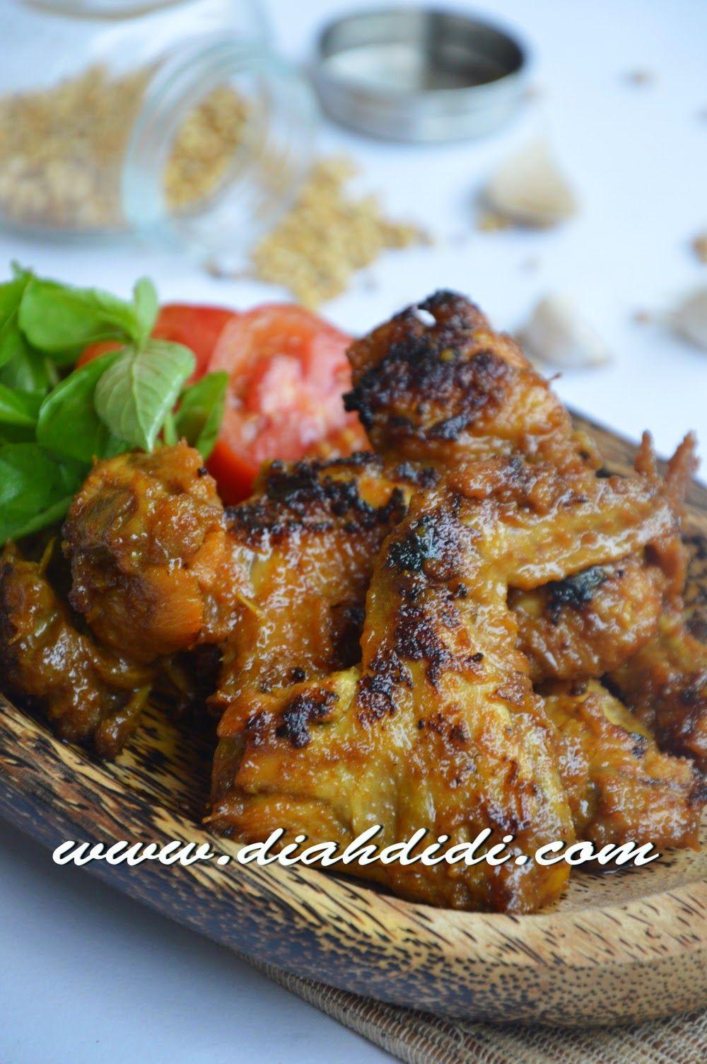 Ayam Bakar Bumbu Opor Resep Masakan Masakan Makan Malam