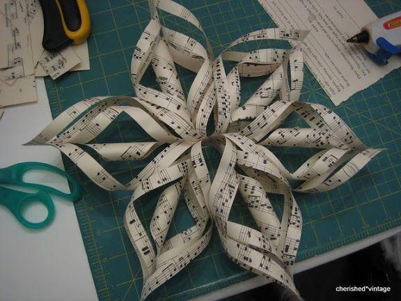 cherished*vintage: Paper Snowflakes Tutorial