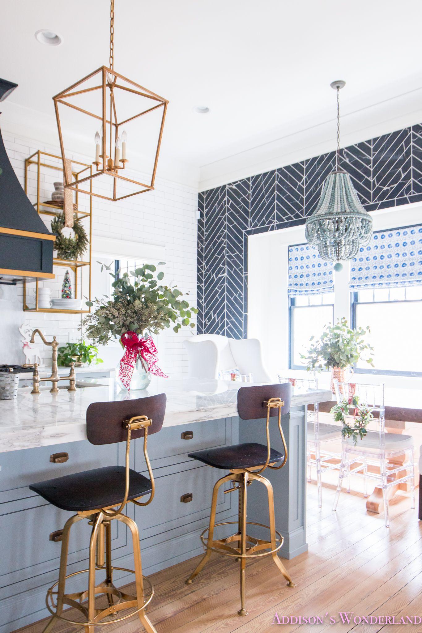 Inside Our Vintage Modern Style Holiday Kitchen... | Fa La La La La ...