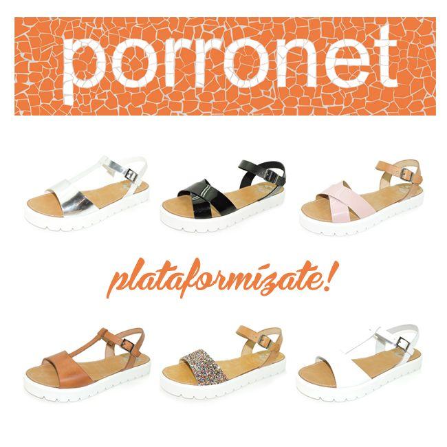 Plataformízate con #Porronet Nuevas sandalias con plataforma plana en diferentes modelos y colores! ¿Con cuál te quedas? ¡Comenta! www.porronet.es