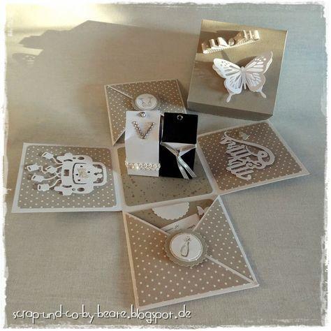 explosionsbox zur hochzeit geschenkideen pinterest box explosionsbox und geschenk hochzeit. Black Bedroom Furniture Sets. Home Design Ideas