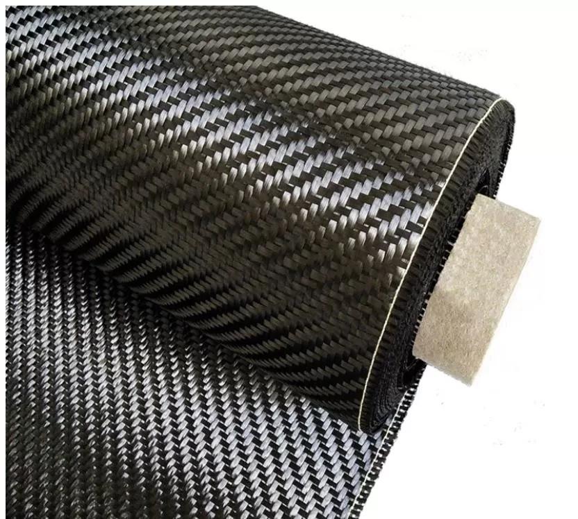 Black 3k 240g Carbon Fiber Fabric Twill Weave Light Weight For Car Decoration Car Decor Carbon Fiber Fabric Factory