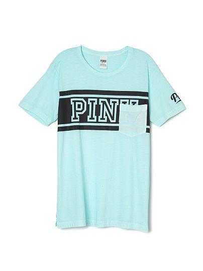 c7c09e40 Campus Short Sleeve Tee PINK SU-347-751 (84M) | VS PINK | Pink, Vs ...
