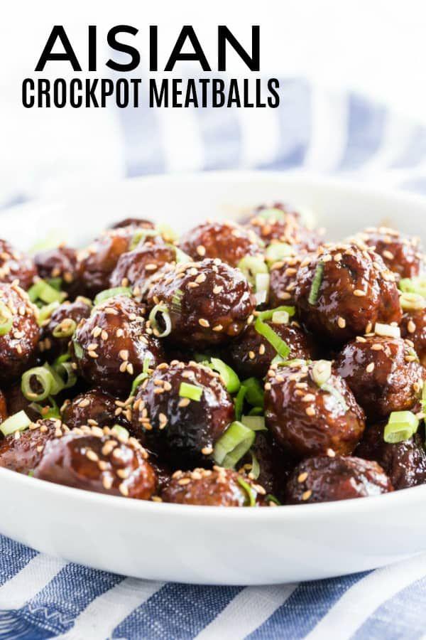 Asian Crockpot Meatballs - Tornadough Alli