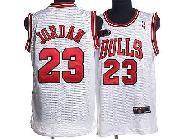 cheap for discount 33f65 ba5f1 Bulls #23 Michael Jordan Stitched White Champion Patch NBA ...
