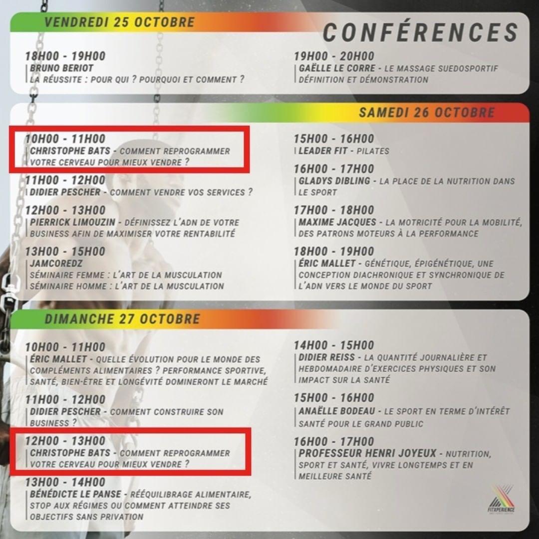 👉 Retrouvez la nouvelle conférence de Christophe BATS à Montpellier, les 26 & 27 octobre prochain au...