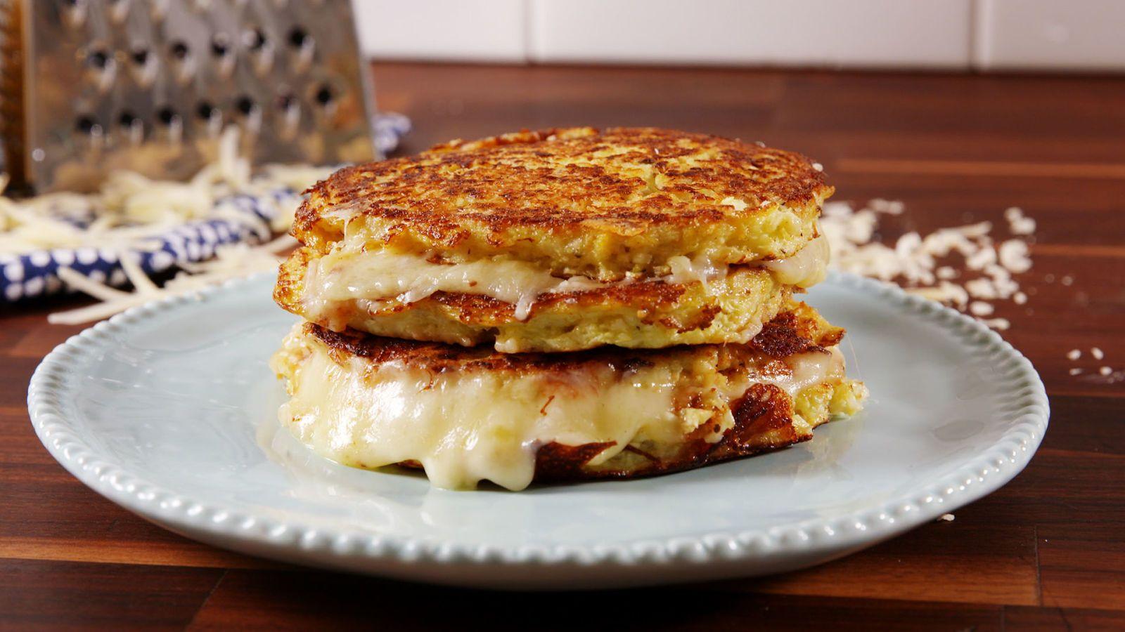 Cauliflower Grilled Cheese Recipe Breakfast Grilled Cheese