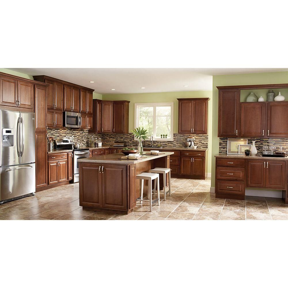 Best Hampton Bay Hampton Assembled 30X30X12 In Wall Kitchen 400 x 300