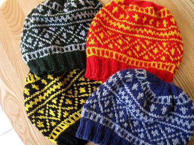 Paulina\'s Blog: Two-Colour Infant Hat | Mönster jag gillar, stickat ...