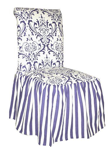 Classic Slipcovers CSI Damask Ruffled Dining Chair Cover ...