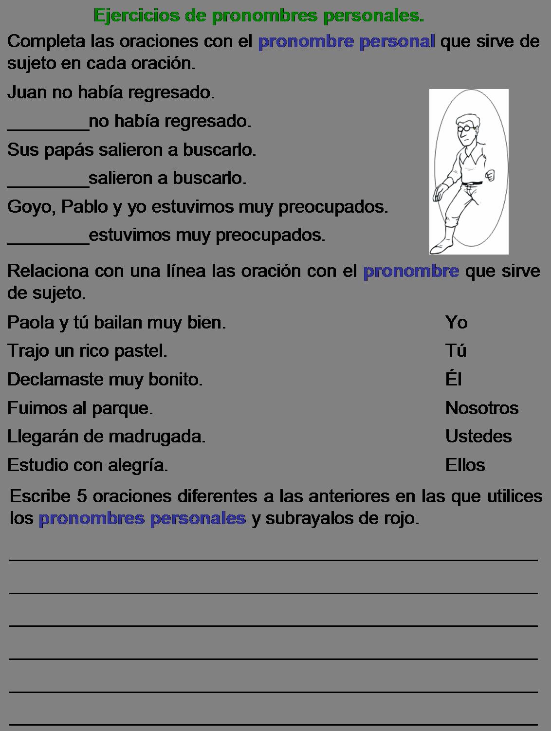 Pin About Atividades Em Espanhol On Los Pronombres Personales
