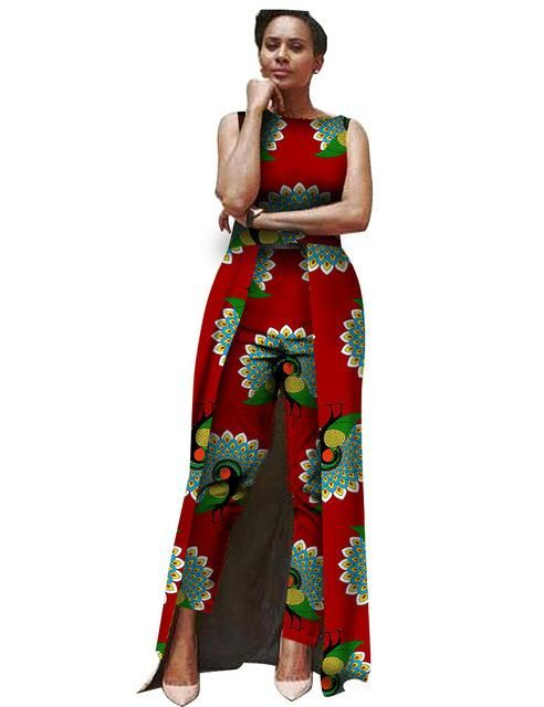 05e502e865b African Clothing Ankara dashiki Jumpsuit Body Suit for women Cotton Wax  Batik Print Plus Size.