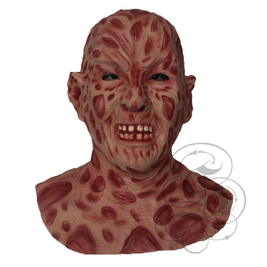 Halloween Latex Horror Famous Movie Freddy Krueger Fancy Costume Dress Up Mask