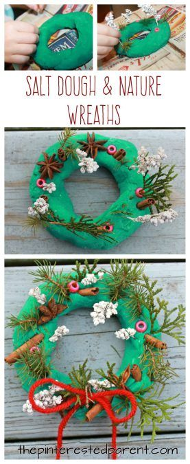Salt Dough and Nature Winter Wonderlands and Wreaths – The Pinterested Parent