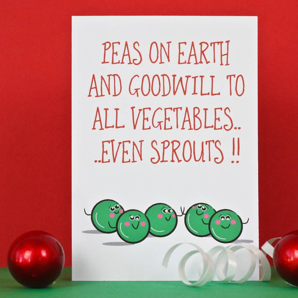 Peas On Earth Christmas Card (With Images)