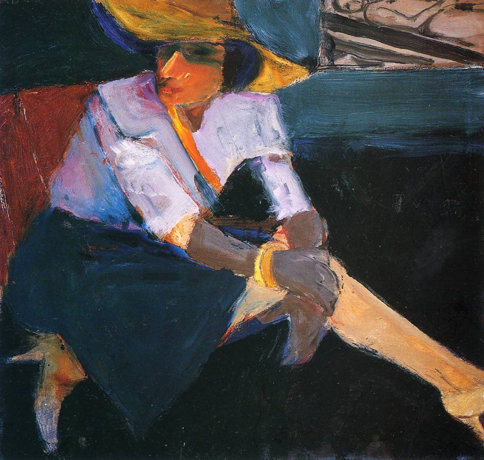Woman with hat and gloves, richard diebenkorn, 1963