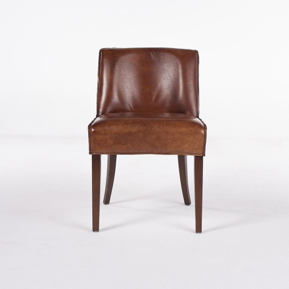 Martin Leather Side Chair Light Brown Leather Side Chair Chair Leather Dining Room Chairs