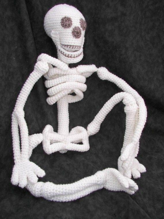 Realistic Bona Fide Skeleton Crochet Amigurumi Pattern | Häkeln ...
