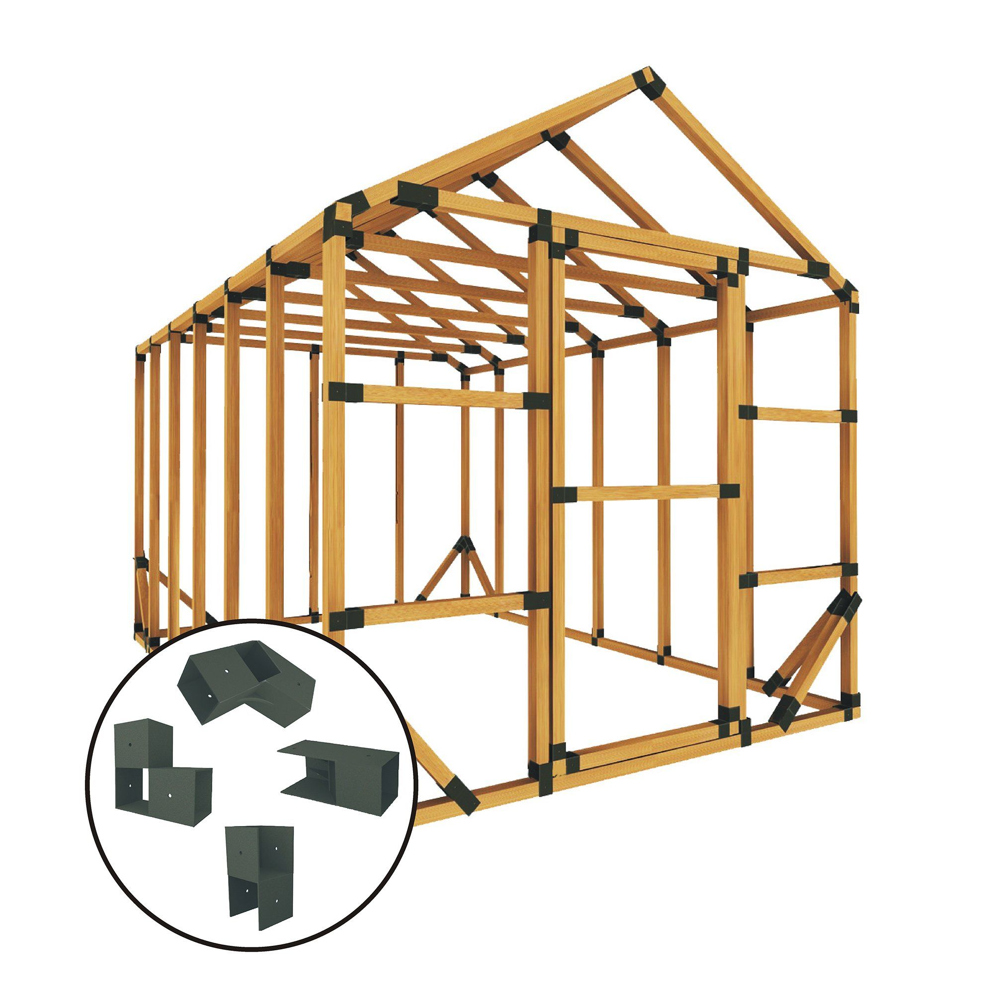 E Z Frames 10 Ft W X 20 Ft D Frame Bracket Reviews Wayfair Greenhouse Kit Storage Shed Kits Shed Kits