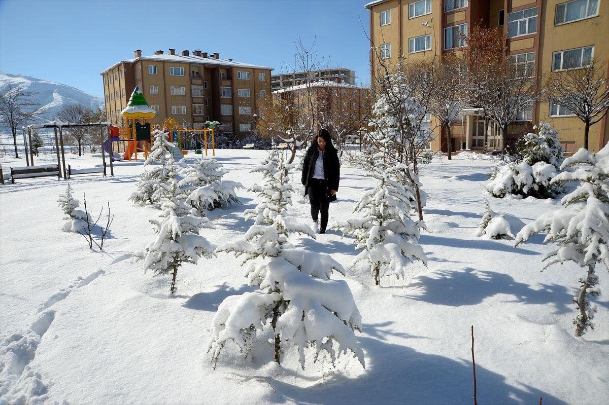 الثلوج في محافظة بتلس أقصى شرق تركيا الهوا للعقارات Outdoor Real Estate Snow