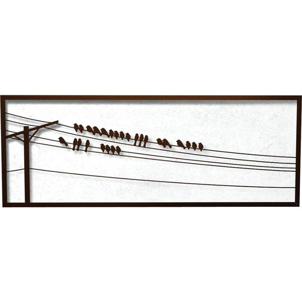 Bird On A Wire Outdoor Wall Decor