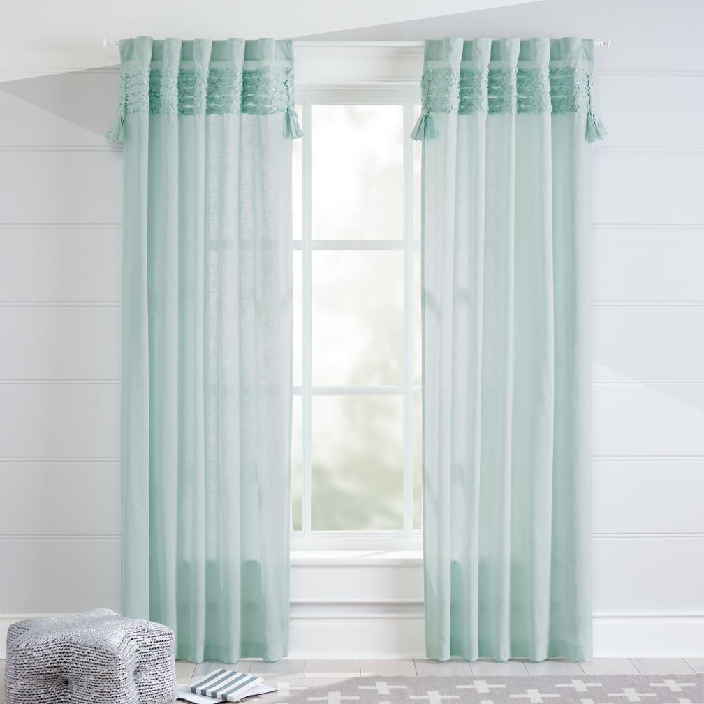 Shop Fringe Mint 96 Curtain With A Stylish And Cool Color Our
