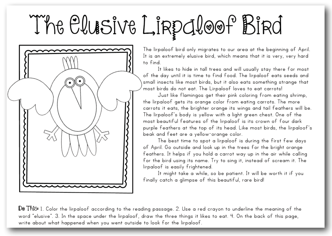 The Elusive Lirpaloof Bird