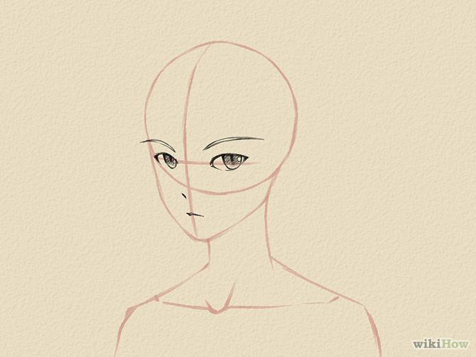 How To Draw A Manga Face Male Manga Drawing Drawings Face Drawing