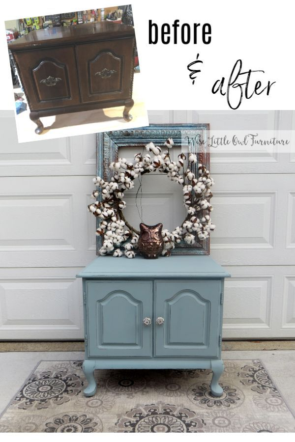 Best Vintage End Table Side Table Makeover Sand Painted 640 x 480
