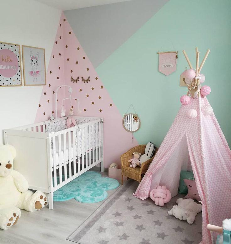 Inspirierende Ideen Fur Uber 100 Babyzimmer Teengirlbedroomideas Wandgestaltung Girls Room Paint Baby Room Decor Baby Girl Bedroom