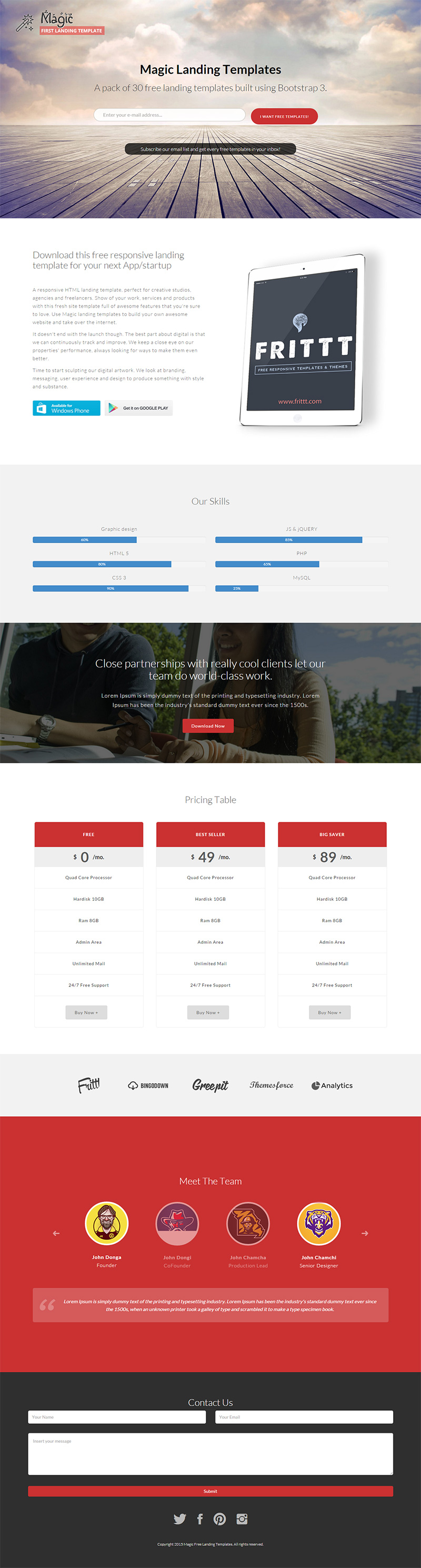 FLT is a robust landing page Bootstrap3 template which provides a ...